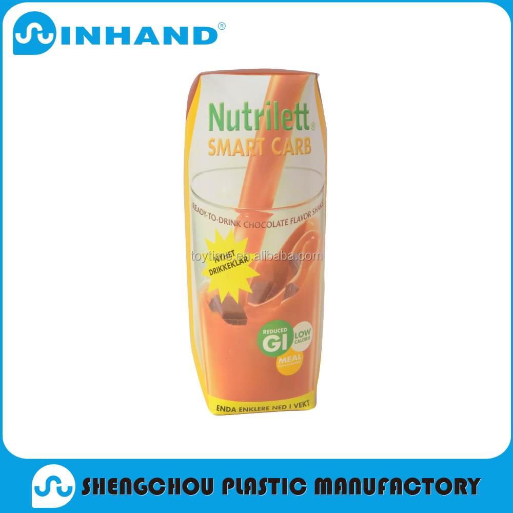 Eco-friendly fashion and simplicitary inflatable juice can for promotion