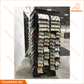 Custom Four Side Spining Glass Mosaic Tile Sample Display Stand for Showroom Tile Tray Display