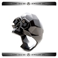 Daihe Black Gold Plated Stainless steel Skull Ring for ladies