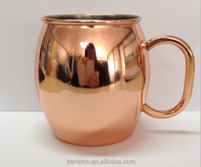 Mugs Drinkware Type and Copper Metal Type pure solid copper mugs for moscow mule