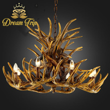 2015 Antler 3-lite antler christmas chandelier/droplight lamp for decoration