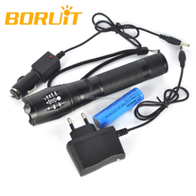 Ultrafile Z4 2000 Lumen XM-L T6 5 Modes LED Rechargeable Flashlight Zoom Torch Flash Light Lantern