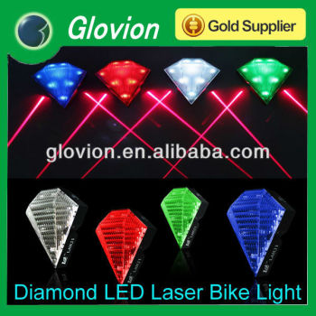 Super Shine like diamond bike laser tail light led bike light for Cyclists