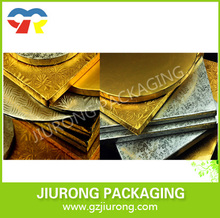 different gold and silver cake boards aluminium foil cake boards