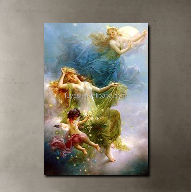 angel art home decor, hot new products for 2015 abstract oil painting handmade oil painting, open hot sexy girl photo