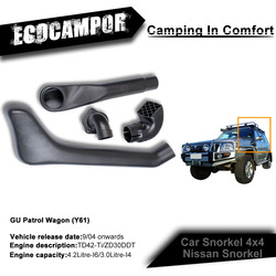 Off road snorkel kits For Nissan GU Patrol Wagon 9/04 onwards TD42-Ti/ZD30DDT