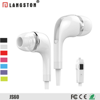 Headphone Noise Cancelling in Ear with Mic TPE flat cable Earphone