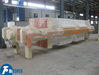 New technology PP membrane filter press for slugde dewatering