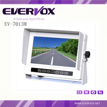 7 inch high resolution TFT LCD color IP68 waterproof car monitor with 3 video input and U shape universal bracket