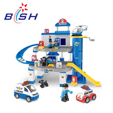 DIY kids intellect play toy building blocks police station for sale
