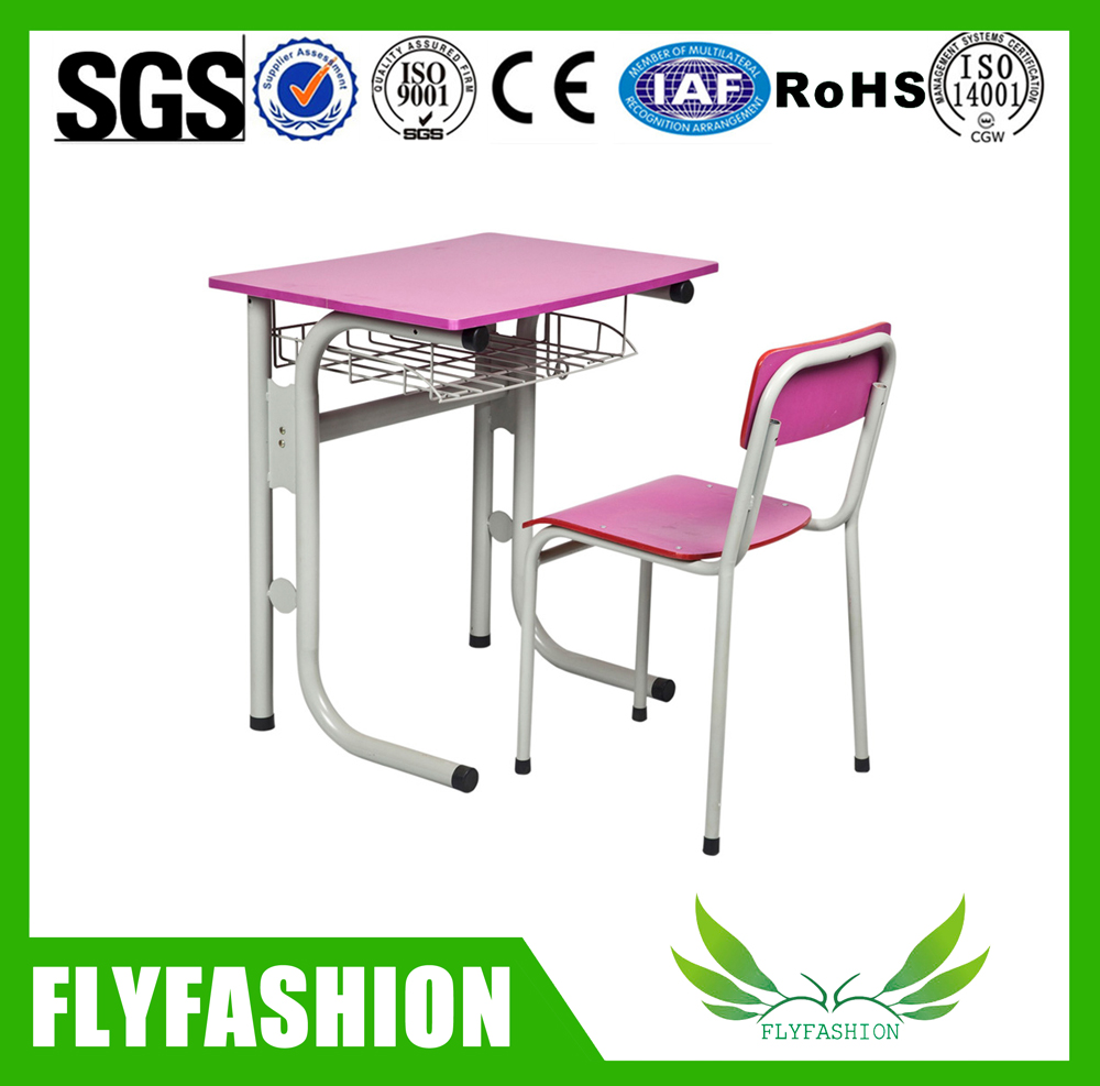 new design single student table and chair school furniture