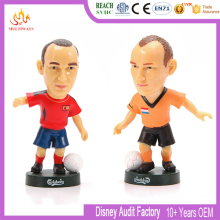 custom 3D soccer player action figure