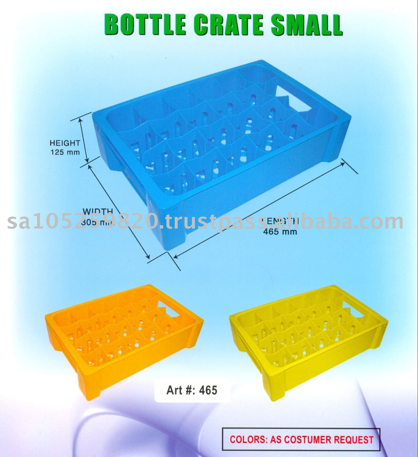 Small Plastic Bottle Crate