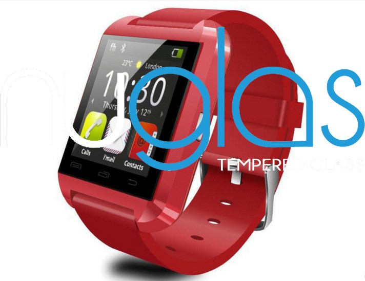 red color u8 smart watch tempered glass screen protector for children smart phone in china smart phone