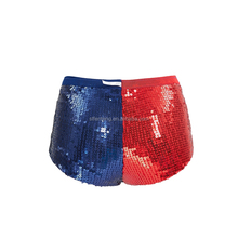 Wholesale hot sale red and blue sequins shiny sexy women panties