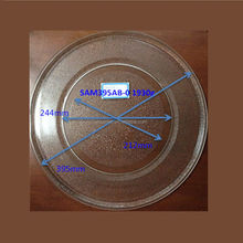 39.5cm flat microwave oven parts, glass plate, microwave oven glass tray