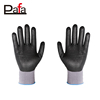 Custom micro-foam nitrile coating gloves black nitrile dot gloves