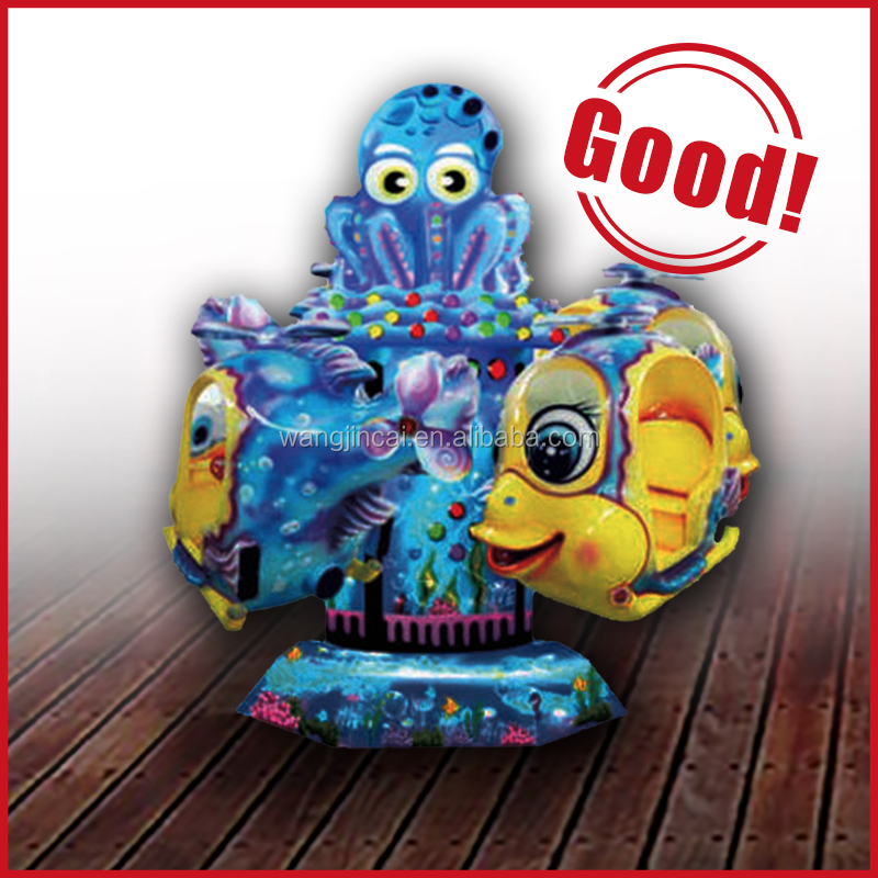 coin operated indoor kids amusement park ride big eye fish for theme park rides for sale