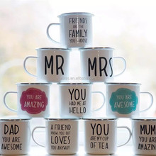 2018 NEW Products MR&MISS DESIGN MINI SIZE Enamel TIN Mug for Coffee