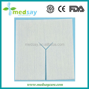 Y-type Medical disposable trach absorbent non woven  sponge