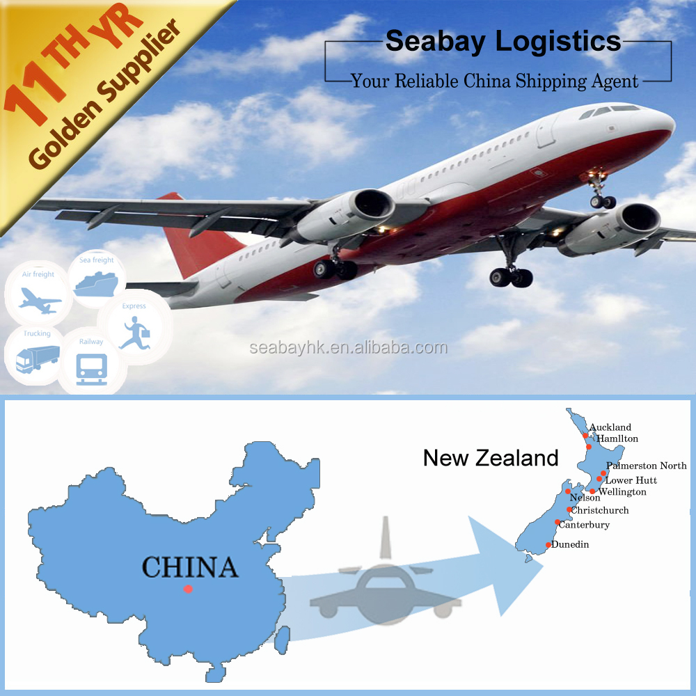 Competitive air shipping rates freight forwarder from China to Wellington