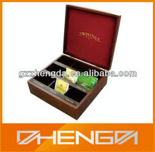 High quality customized made-in-china Hot Popular Wooden Tea Box For GIft Sale (ZD11-001)