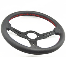 340mm 14inch Real Leather Racing Drifting Tuning Steering Wheel