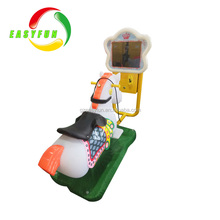 Amusement kiddie ride 3d racing horse Coin operated swing horse kids game machine for sale