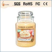 Fashion OEM scents white beeewax candle /yankee candle