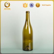 Burgundy type hot sale 750ml glass empty liquor bottles