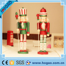 Handmade Exquisite Wooden Nutcracker King and Soldier Puppet Christmas Gift