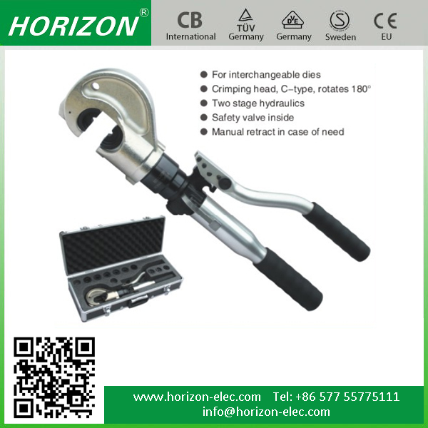 HT-12030 safety valve system inside integral unit hydraulic wire rope crimping tool