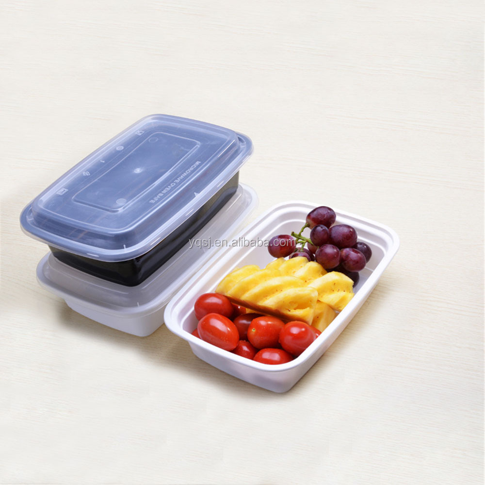 wholesale 1000ml / 32oz rectangular reusable <strong>plastic</strong> certified international meal prep container / lunch box / dinnerware