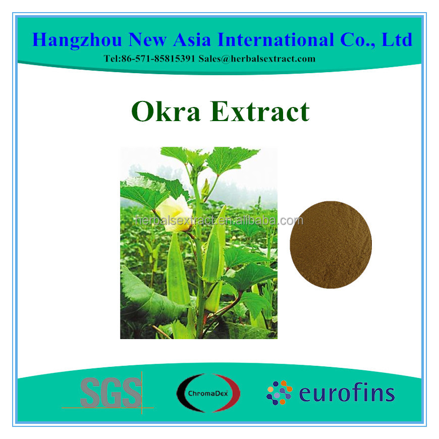 100% Pure Okra Extract With Kosher Halal ISO22000 Certificate