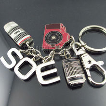 Metal S,O,E Key ring Camera Shaped Keychain SW-0824