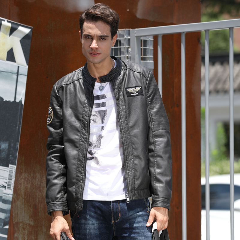 chinese manufacturer slim fit pu leather jacket