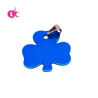 Factory Price 2018 hot sale promotional Colorful Aluminum metal custom Leaf shape tag blank id tag
