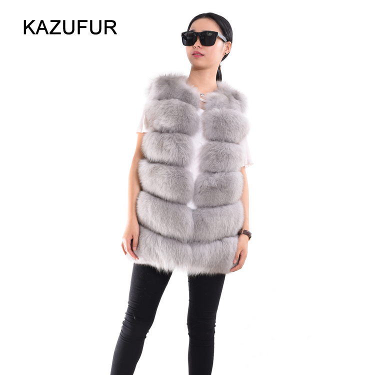 Factory wholesale price fox fur vest Russian fur vest for women winter