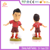 Make your own plastic sports soccer star player action figures for fans