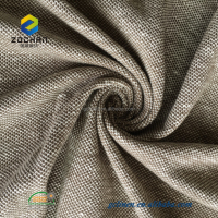 Top grade Linen cotton pique knit fabric for polo T-shirt 190 gsm