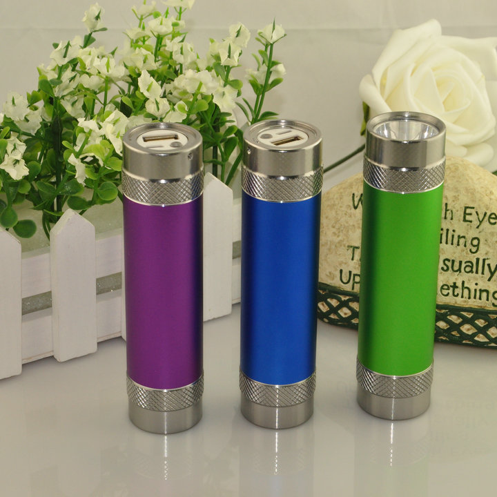 3000mah Power bank with LED light colorful