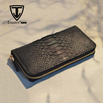 Custom Money Wallet, China Sopplier 100% Real Python Genuine Leather Wallet