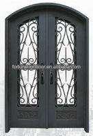 Wrought iron door designs door windows made in China factory