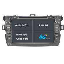 Android 7.1.1 2 Two Din 8 Inch Car DVD Player For Toyota Corolla 2007 2008 2009 2010 2011 With 2GB RAM GPS Navigation Radio WiFi