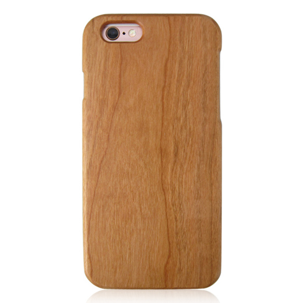 Cherry wood mobile phone shell solid wood phone case blank wooden case for iPhone 6s