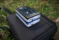 Camping kit use portable solar power bank with led light,led solar panel power bank