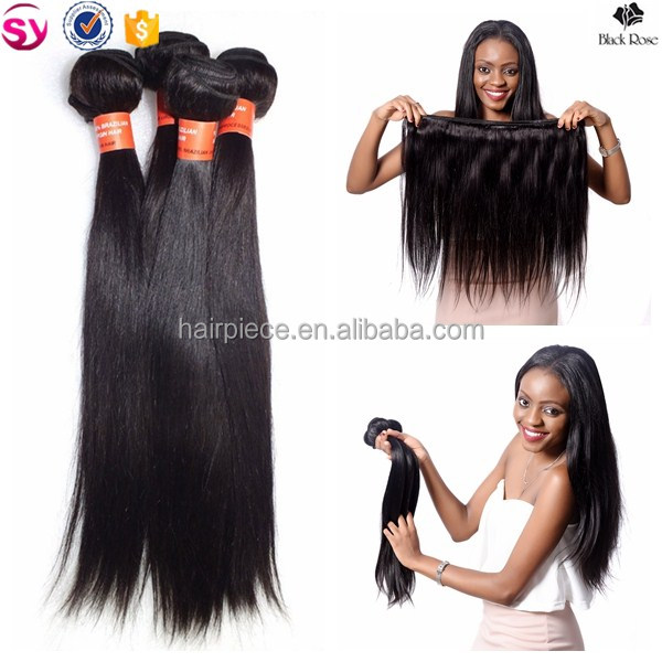 Black Rose natural color straight wave Grade 7a peruvian hair extension <strong>human</strong>