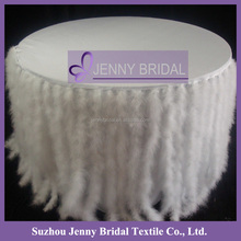TC110A Fancy Feather Style White Tablecloths And Chair Covers