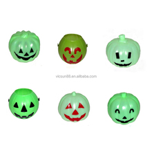 halloween green plastic face pumpkin for bar party decoration