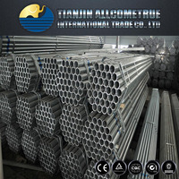 BS 1387/A53 pre-galvanized steel tubes / Pipes / Fence pipes / Scaffolding pipes made in Tianjin